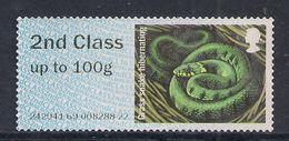 GB 2016  QE2 2nd Class Post & Go Grass Snake Hibenating No Gum ( A686 ) - Great Britain