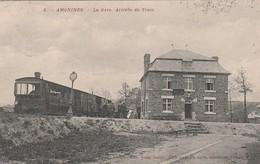 Amonines  La Gare  Arrivée Du Tram Circulé En 1912 - Erezée