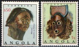 ANGOLA - 1976 - MASCHERE AFRICANE - USATI - Angola