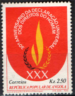 ANGOLA - 1979 - DICHIARAZIONE DEI DIRITTI DELL'UOMO - USATO - Angola