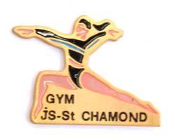 Pin's GYM - JS STCHAMOND - La Gymnaste - G652 - Gymnastics