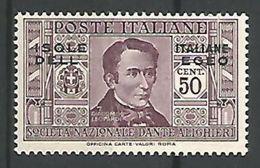 Dante Alighieri 50c Lilas - Egeo