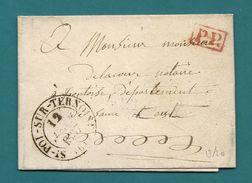 Pas De Calais - Collection Sur St POL SUR TERNOISE. 4 Documents : 1835/1836/1837/1840 - Marcophilie (Lettres)