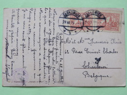 "Poland 1929 Postcard """"forest Painting """" Zabkowice To Belgium - Church - 1919-1939 Republic"