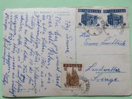 """Poland 1959 Postcard """"""""Wloclawek - Place Wolnosci"""""""" To Sweden - St. Maty Church - Tomb Of Prosper Prowana - 1944-.... Republic"""