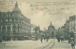 ANVERS - Avénue De Keyser, Vers La Nouvelle Gare Centrale - Antwerpen