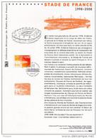 """"""" STADE DE FRANCE """" Sur Document Philatélique Officiel De 2008. Parfait état.  N° YT 4142. DPO - FDC"""