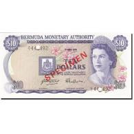 Bermuda, 10 Dollars, 1974-1982, 1978-04-01, KM:30s, SPECIMEN, NEUF - Bermudes