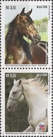 BRAZIL - SE-TENANT HORSES: JOINT ISSUE BRAZIL/SLOVENIA 2016 - MNH - Horses
