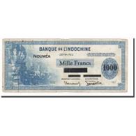 Nouvelle-Calédonie, 1000 Francs, Undated (1943), KM:45, B+ - Nouméa (Nuova Caledonia 1873-1985)