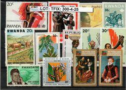 RWANDA SELECTION CONTENTS# 13 PCS IN MIXED CONDITION#. (TFIX-300-4 (25) - Rwanda