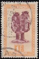 RUANDA-URUNDI - Scott #98 Mbuta Two Faces Mask / Used Stamp - Ruanda-Urundi