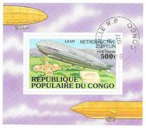 République Du CONGO - 1977 - Bloc N° 11 - Rétrospective Zeppelin - Oblitéré - Congo - Brazzaville