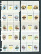 Tonga 1984 Marine Life Definitives Set Of 18 X 2 As Gutter Pairs With Labels MNH Specimen Overprints - Tonga (1970-...)