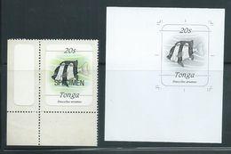 Tonga 1984 Marine Life Definitives 20s Fish Black & White Proof - Tonga (1970-...)