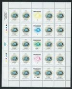 Tonga 1984 Marine Life Definitives 32s Fish Full Sheet Of 20 With Margins & Gutters MNH Specimen Overprint - Tonga (1970-...)