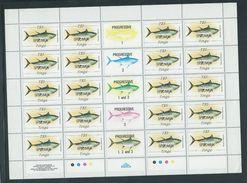 Tonga 1984 Marine Life Definitives $5 Fish Full Sheet Of 20 With Margins & Gutters MNH Specimen O/P - Tonga (1970-...)