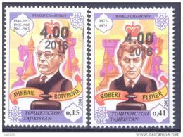 2016. Tajikistan, Overprint New Values On CHESS Stamps, 2v Mint/** - Tajikistan
