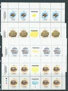 Tonga 1984 Marine Life Official Definitives X 8 In Gutter Blocks MNH Specimen O/P - Tonga (1970-...)