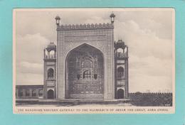 Old Postcard Of Mausoleum Of Akbar,Agra,Uttar Pradesh In India,Y39. - India