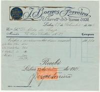 Invoice * Portugal * Lisboa * 1916 * J. Borges Ferreira - Portugal