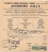 Receipt * Portugal * Lisboa * 1927 * '' L'Eclair Et Franco Portugais-Réunis '' - Portugal