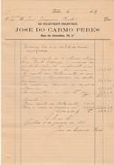 Invoice * Receipt * Portugal * Lisboa * 1901 * Solicitador Encartado - Portugal