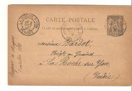 LOT  1564   //   CARTE SAGE      ANGERS - Marcophilie (Lettres)