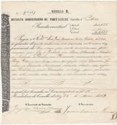 Receipt * Portugal * Aviz * 1859 * Districto Administrativo De Portalegre - Portugal