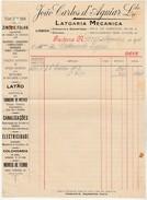 Invoice * Portugal * Lisboa * 1930 * Latoaria Mecanica - Portugal