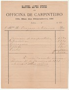 Invoice * Portugal * Lisboa * 1891 * Officina De Carpinteiro - Portugal