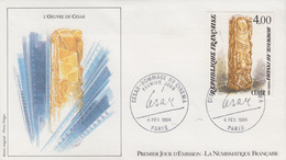 Enveloppe  FDC   1er   Jour    Oeuvre  De   CESAR   1984 - FDC