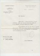 LETTRE AUTOGRAPHE De ALAIN PEYREFITTE (ASSEMBLEE NATIONALE) à PAUL COBAN Poëte - 1971 - Autografi