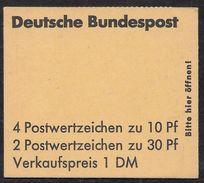 Bund März 1972 / MiNr.  MH 16 D    Mit  H-Blatt 21    ** / MNH    (mh1318) - [7] République Fédérale