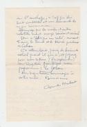 LETTRE AUTOGRAPHE De HUBERT COMTE écrivain à PAUL COBAN Poëte - 1957 - Autographes