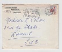 LETTRE EN-TETE ORTF Datée 1964 Avec MARCOPHILIE PHILATEC Adressée Au Poëte PAUL COBAN - Marcophilie (Lettres)