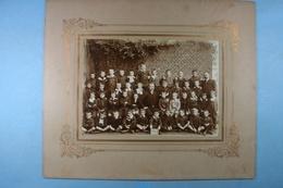 Mons Ecole Moyenne De L'Etat 1906 Photo Sur Carton - Lieux