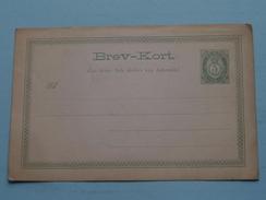 BREV-KORT 5 Ore Postfrim ( Post Card / Briefkaart / Carte Postale / Zie Foto Details ) BLANCO - 2 Pcs. !! - Norvège