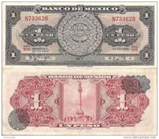 Mexico P-59i, 1 Peso, Aztec Calendar Stone / Statute Of Victory - Mexico