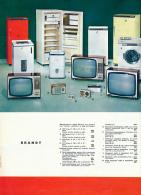 Ancienne Publicite (1963) : BRANDT, Réfrigérateurs, Machines à Laver, Téléviseurs, Essoreuse, Radios à Transistors... - Publicités