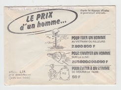 ENVELOPPE PROPAGANDE ANTI MILITAIRE ET ANTI AMERICAINE - 1980 - Zonder Classificatie