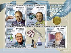 S. TOME & PRINCIPE 2009 - Jewish Scientists, Chess - YT 3114-7 - Schaken