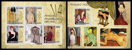 S. TOME & PRINCIPE 2009 - Amadeo Modigliani - YT 3126-9 + BF493 - Naakt
