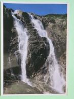 "Poland 1999 Postcard """"waterfall"""" Nowy Tomysl To England - Due Tax - Country Estates Bronowicach - Poland"