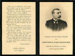 050817 - FAIRE PART DECES ANCIEN - BRESIL ? - JOSE MARIA D'ECA DE QUEIROZ 1900 NEUILLY SUR SEINE - Obituary Notices