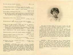 050817 - FAIRE PART DECES ANCIEN - PORTUGAL LISBOA LISBONNE - MARIA EUGENIA DE SOUZA COUTINHO DE MENDIA 1917 NEUILLY - Obituary Notices