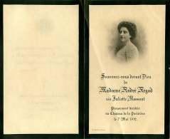 050817 - FAIRE PART DECES ANCIEN - FRANCE 26 BOURG DE PEAGE - ANDRE ARGOD JULIETTE MOSSANT Château La Parisière 1912 - Obituary Notices