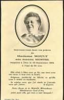 050817 - FAIRE PART DECES ANCIEN - FRANCE MOULY NEE JEANNE MONTEL 1964 - Obituary Notices