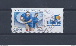 FRANCE Timbres Personnalisés Yvert N° 4032A Oblitéré Rugby Allez Les Petits Avec Logo Timbres Personnalisés - Personnalisés