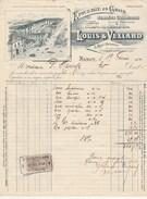 Facture Illustrée 19/2/1910 LOUIS & VEXLARD  Denrées Coloniales Allumettes Huiles Salaisons NANCY Meurthe Et Moselle - 1900 – 1949